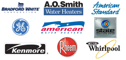 Kenmore Rheem Whirlpool State American Standard American Water Heaters Brandford White A.O. Smith Water Heater Brands San Diego