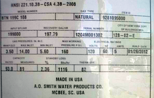 Commercial Water Heater Specs Riverside